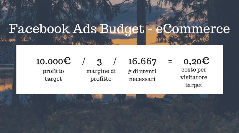 Facebook Ad Budget - ecommerce