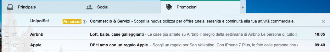 annunci Gmail